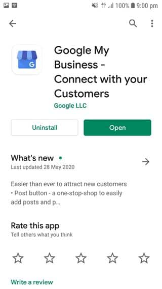 Step 1. Download & open the Google My Business app on your mobile phone